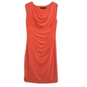 Lauren Ralph Lauren Coral Cowl Veck Sheath Dress